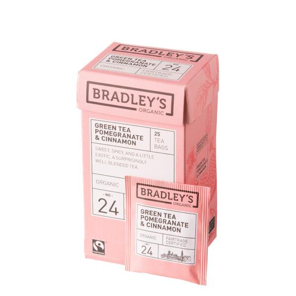 Bradley'Bradley's Green Tea Pomegranate & Cinnamons Green Tea Pomegranate & Cinnamon