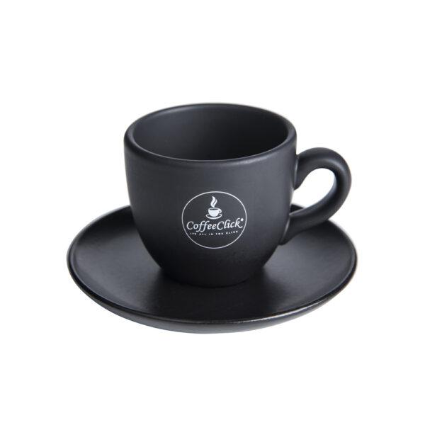 CoffeeClick koffiekop en schotel zwart
